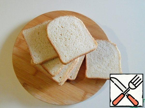Bread can be taken toasted or shaped sliced.