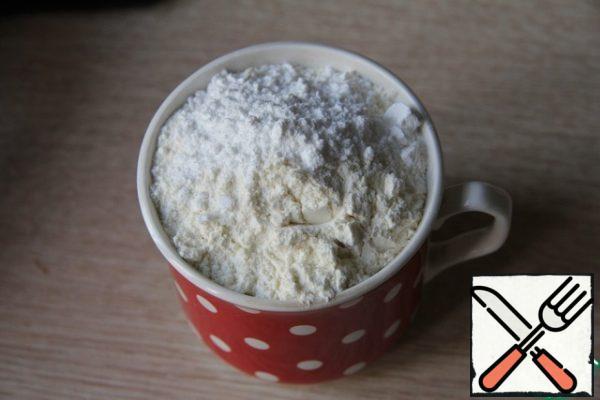 Mix flour, baking powder.
