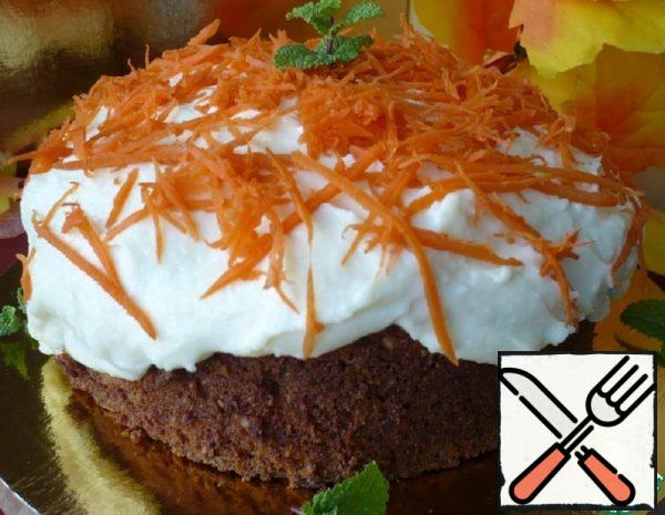 Spicy Carrot Cake with Cream Recipe