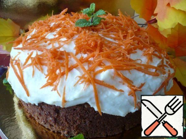 For decoration, I rubbed carrots with straws and decorated her cake. You can decorate the cake to your liking.
