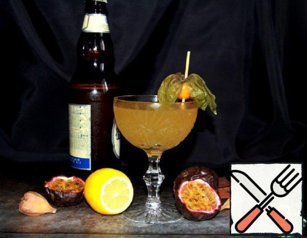 """Cocktail """"Autumn Passion Fruit"""" Recipe"""
