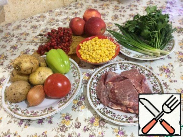 Prepare the food.