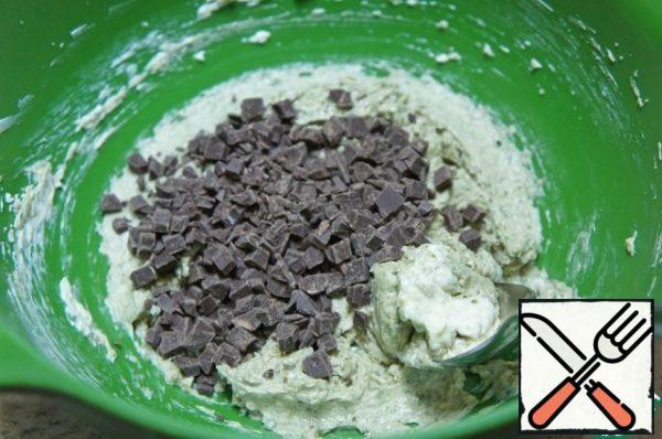 Add chocolate, stir.