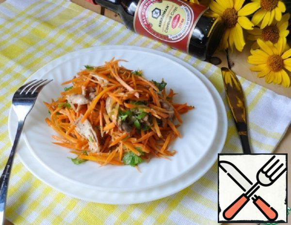 Korean Carrot Salad with Chicken Recipe
