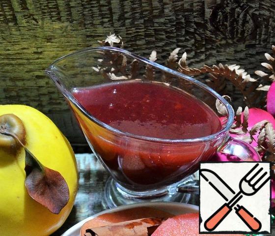 Boil plum-pomegranate sauce until desired density, adding sugar. Serve for dessert.BON APPETIT!!!