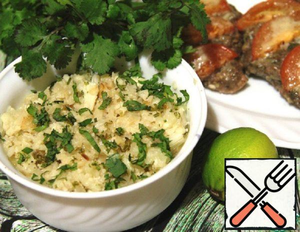 Fake Rice from Cauliflower  with Lime Recipe