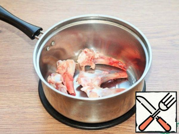 From the bones you can cook a delicious broth.