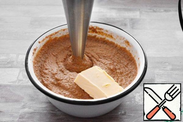 But if you are not afraid of calories, then add a piece (100-150 gram) of butter and whisk again with a blender