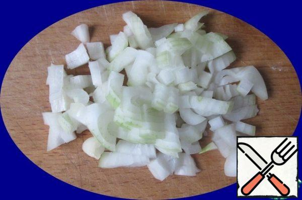 Finely chop the onion