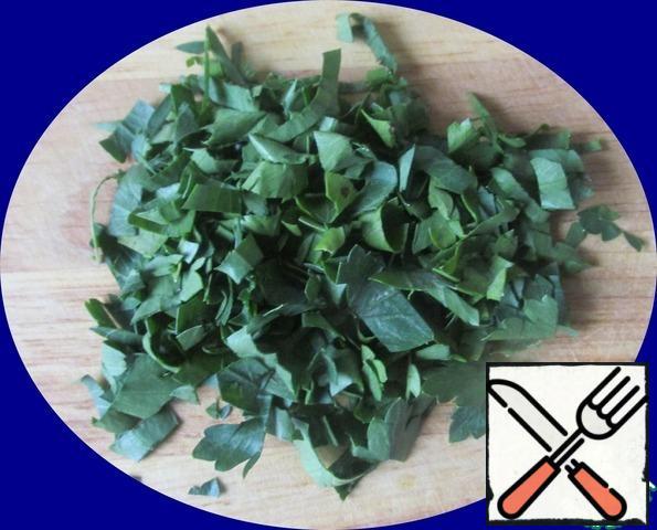 Chop the parsley