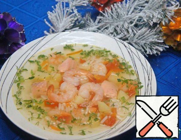 Salmon and Shrimp Soup Recipe