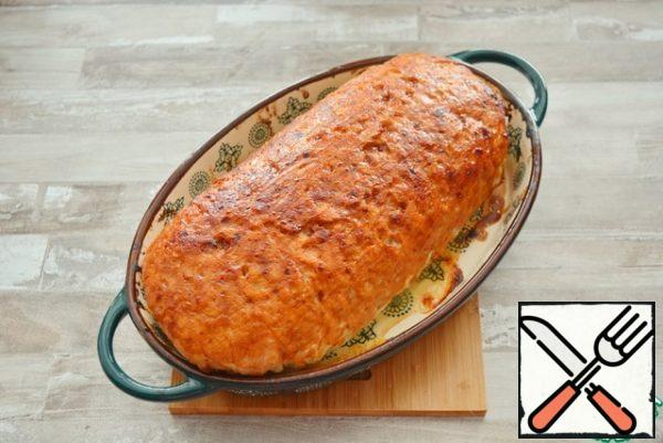 Return it to the oven, raise the temperature to 200°C and brown the roll.