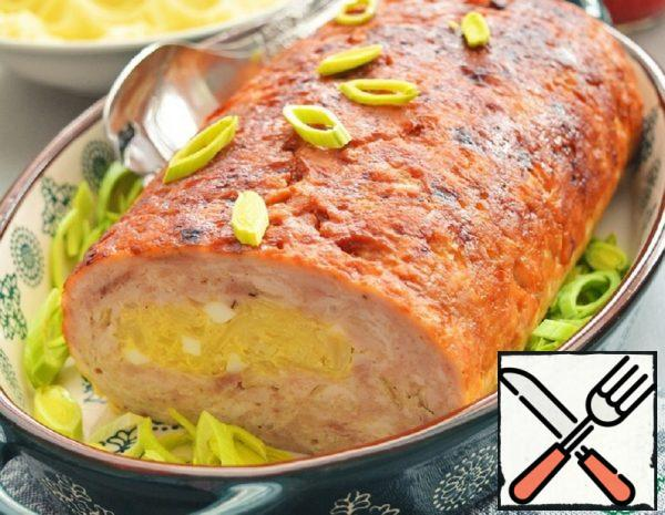 Chicken Roll with Cabbage and Eggs Recipe