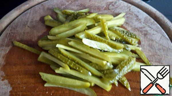 We also cut gherkins (or pickles).