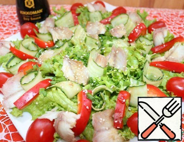 Salad with Eel Recipe