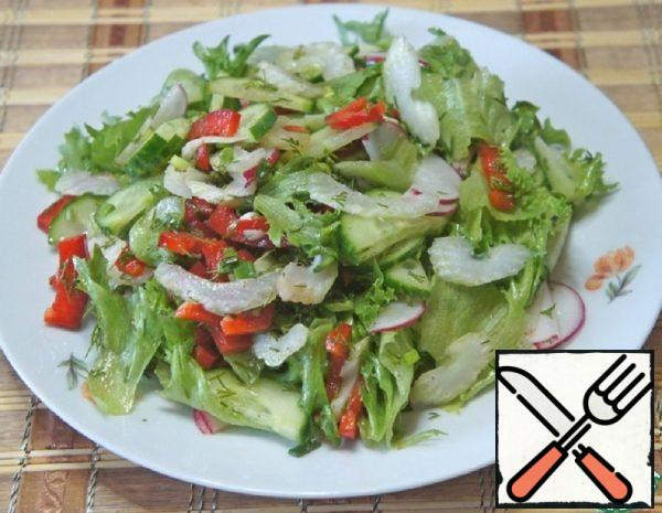 Salad with Celery and Radishes Recipe