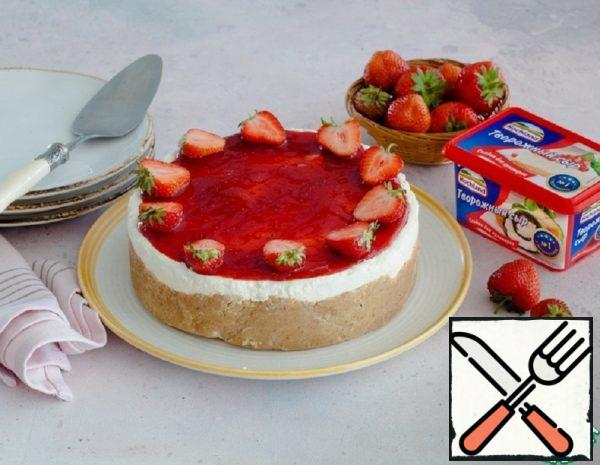Strawberry Cheesecake without Baking Recipe