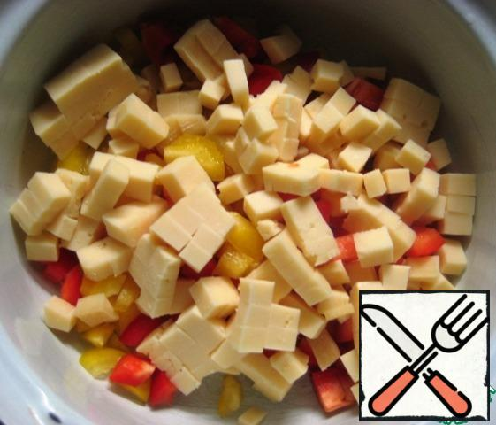 Add also sliced cheese.