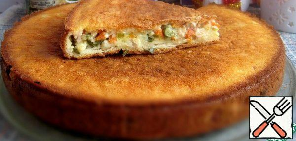Pie with Chicken, Carrots and Cucumbers Recipe