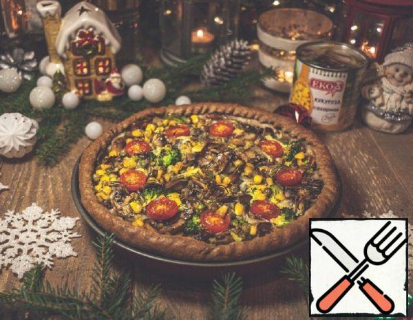 Loran Pie with Vegetables and Mushrooms Recipe