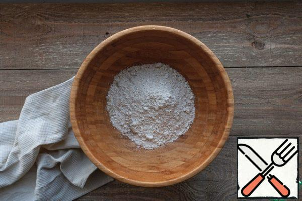 Grind the flax seeds and oat flakes in a blender to a flour state.