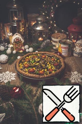 The pie is ready. Bon Appetit!