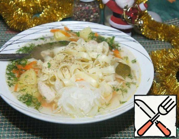 Noodle Soup with Pickled Onions Recipe