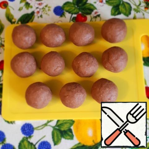 Roll balls of 40 gr.