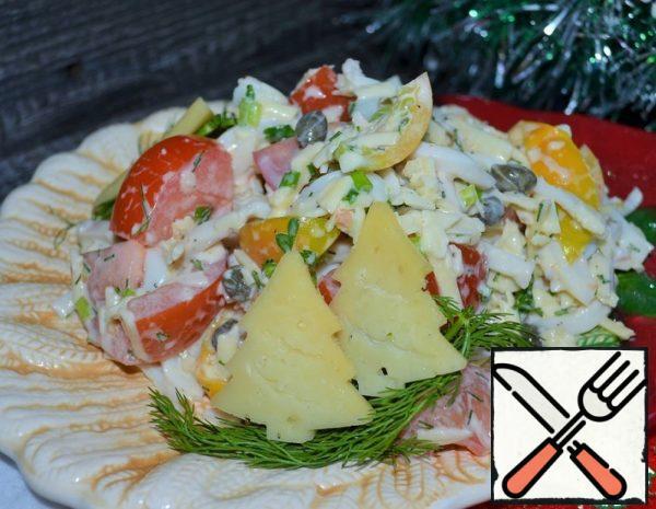 "Salad ""Squid with Vegetables"" Recipe"
