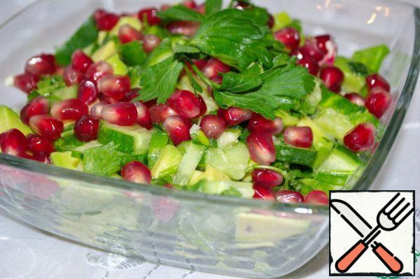 Sprinkle with pomegranate seeds before serving.