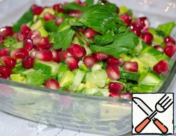 Salad with Avocado and Cucumber Recipe