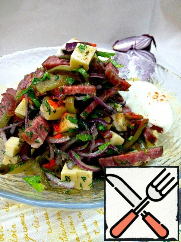 Season the salad and serve.