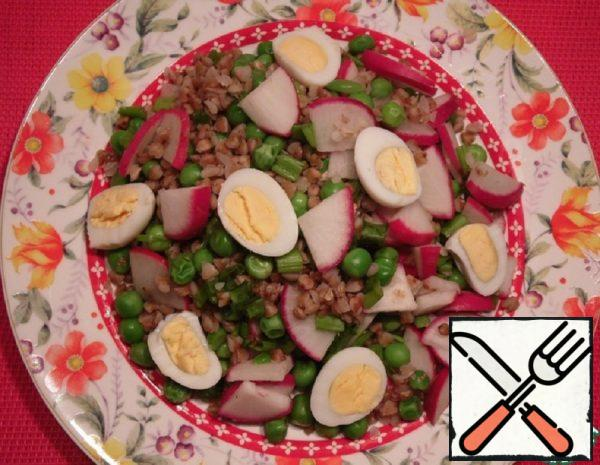 Salad with Buckwheat and Radish Recipe