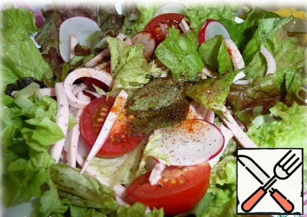 Green Salad with Sausage Recipe