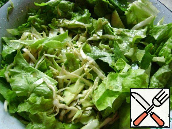 Add to the cabbage. Pepper to taste.
