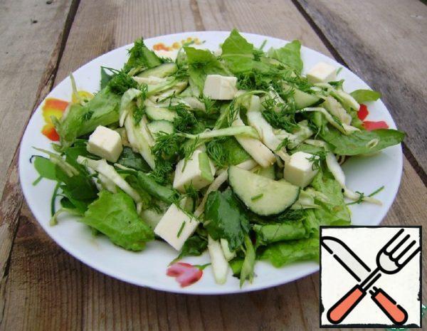 Salad with Cucumber Recipe