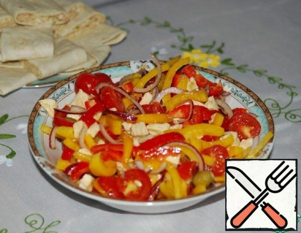 "Salad with Spicy Dressing ""Bright"" Recipe"