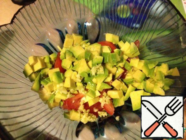 Put everything in a salad bowl.