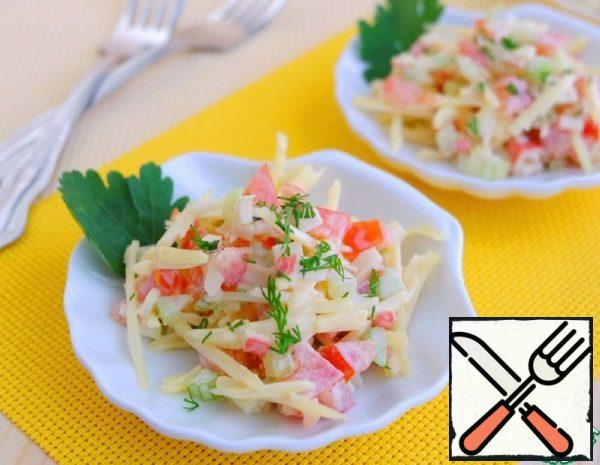 Crab Salad with Celery Recipe