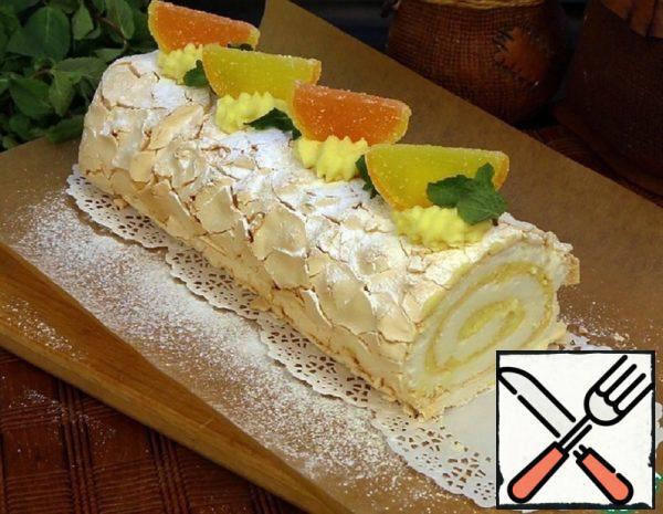 Meringue Roll with Lemon Cream Recipe