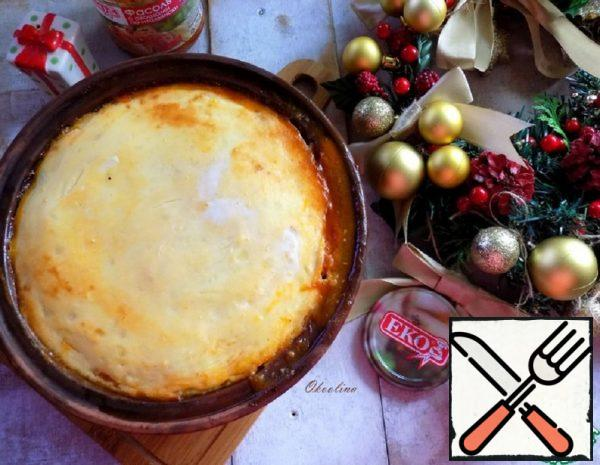 Potato Casserole with Beans in Italian Recipe