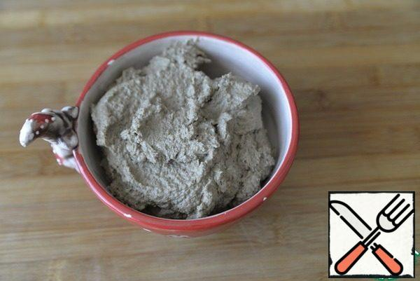Ready to paste put into a convenient container, cover with film or a lid, put in the refrigerator.