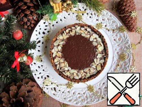 Transfer the cake to a festive dish and serve.