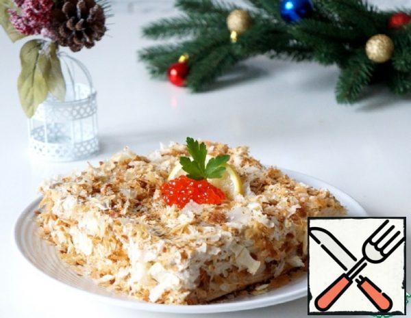 "Snack Cakes ""Napoleon"" with Cod Liver Recipe"