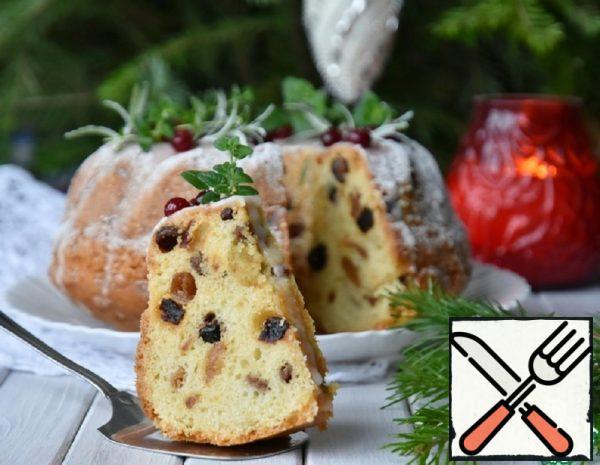 Christmas Cake with Dried Fruit Recipe