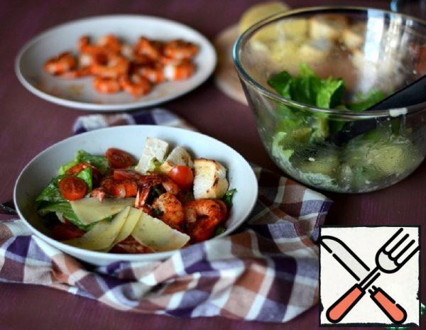 Caesar Salad with Prawns Recipe