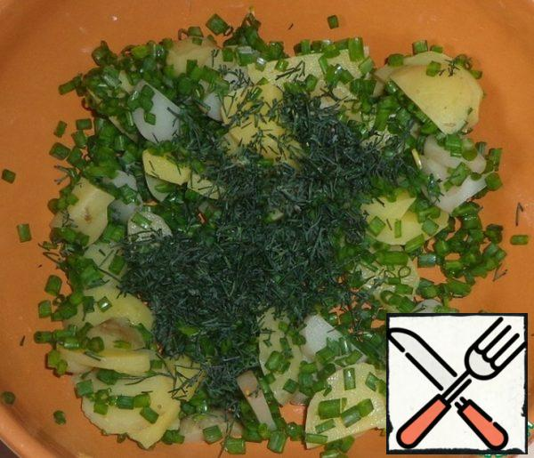 Add chopped dill or parsley. Choose to your taste.