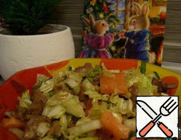 "Salad ""Liver and Vegetables"" Recipe"