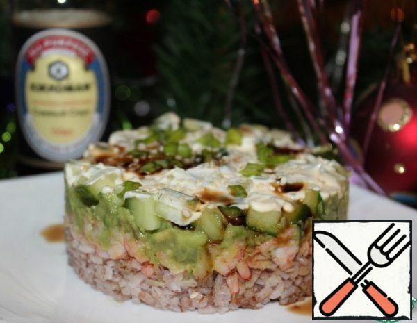 Layer Salad with Prawns Recipe