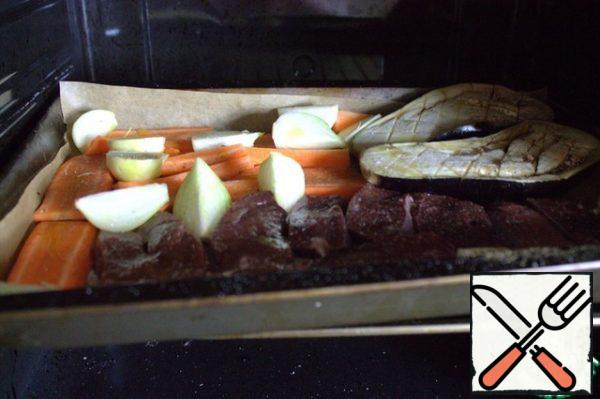 Put in preheated to 200*C oven for 40-50 minutes.